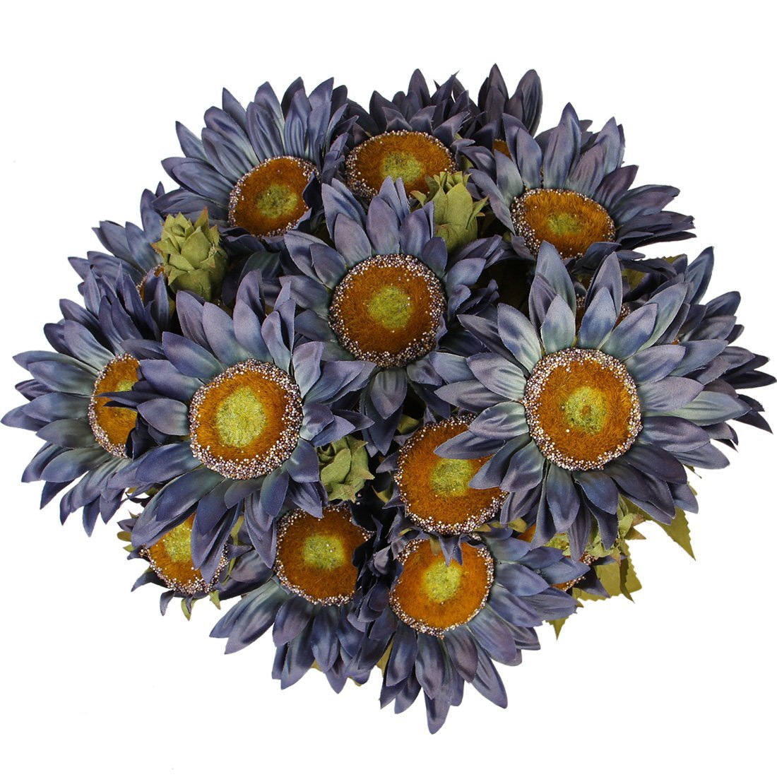 Cheap silk sunflowers bulk find silk sunflowers bulk deals on line luyue 13 head artifical silk sunflowers bouquet oil painting style decorative flowers oil blue izmirmasajfo