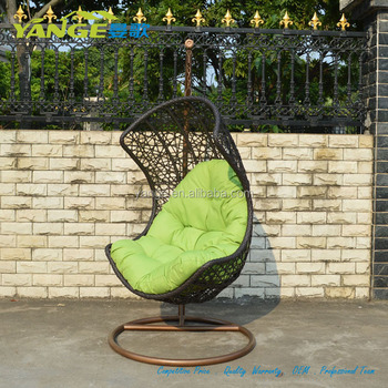 Hot Sale Outdoor Garden Patio Wicker Furniture Hammock Hanging Rattan Swing  Chair