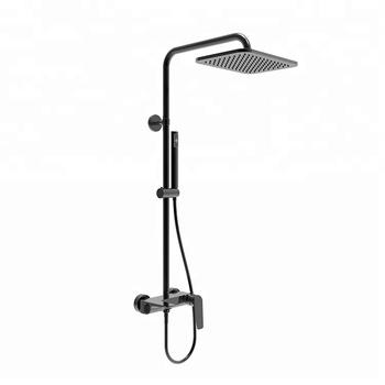Bath Shower Heads homeshow customized three function matte black shower head set