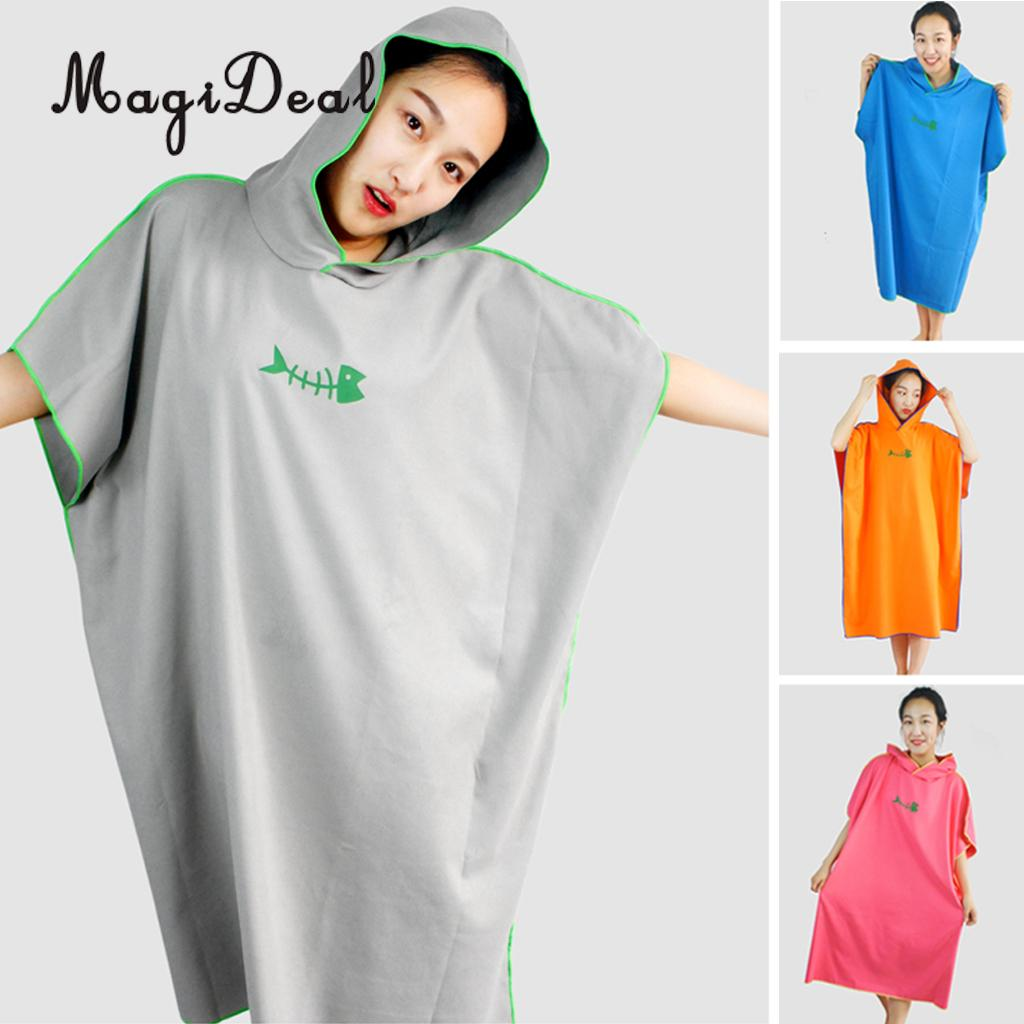 540bc25e62 Unisex Adult Beach Surf Poncho Water Absorbent Wetsuit Changing Towel Robe  with Hood - One Size