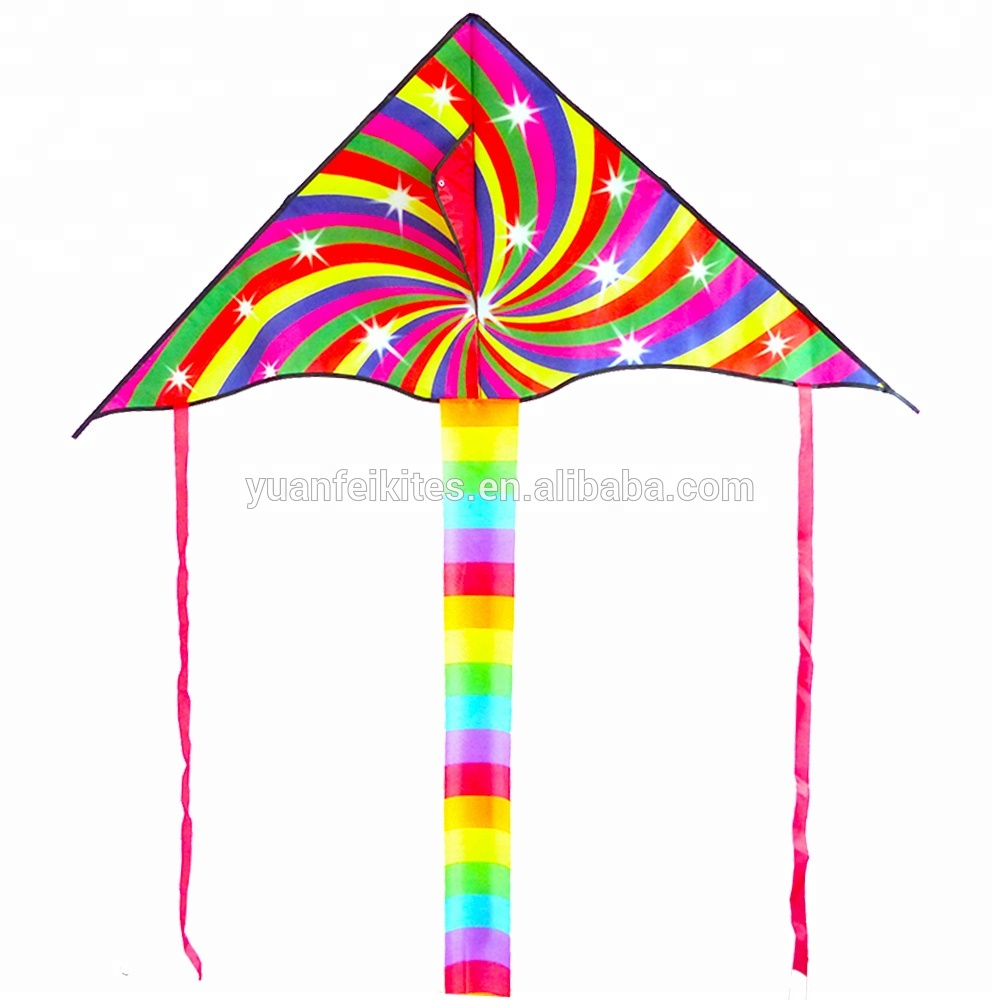 chinese rainbow delta flying kite for sale