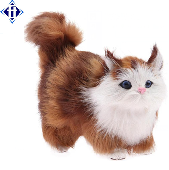 Wholesale Plush Animal Real Looking Lifelike Cats