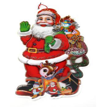 new design merry christmas delicate santa claus wall sticker 3d crafts lenticular christmas sticker