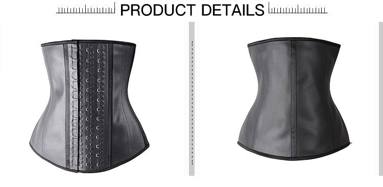 3543058901 wholesale 3 hook stock Body Shaper slimming sports corset woman latex waist  trainer