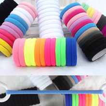 TS 10pcs/lot  Candy Colored Hair Holders High Quality Rubber Bands Hair Elastics Accessories Girl Women Tie Gum (Mix Colors)