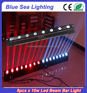 8pcs x 10w white/RGBW 4in1 moving led bar beam