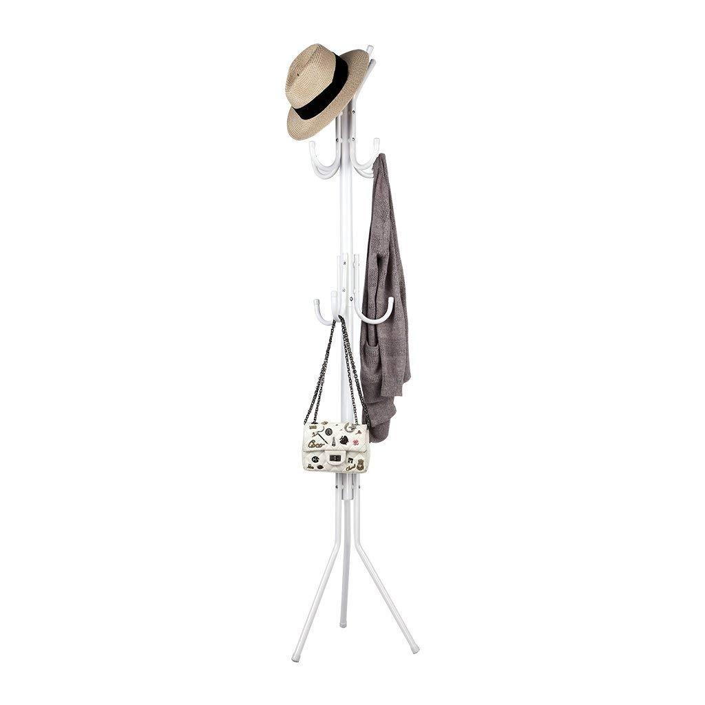 """AATop 3-Tier Metal Coat Rack Hall Tree Stand Hat Hanger Holder, 11 Hooks, Height 68.1"""" Weight Capacity 44 lb - US Stock"""