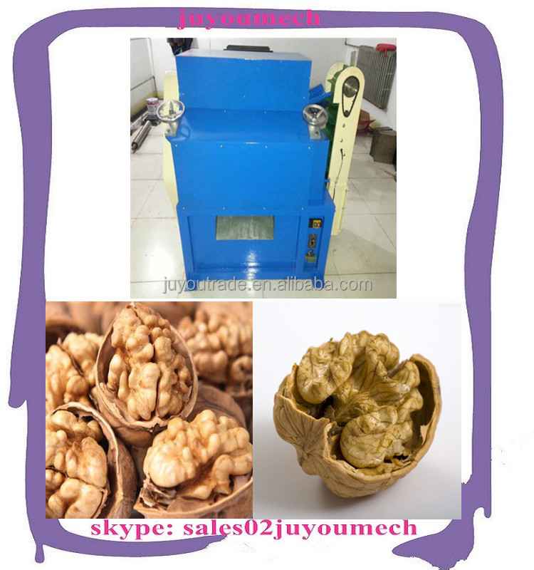 top selling walnut cracker and sheller/ walnut shell cracking machine to get walnuts kernel