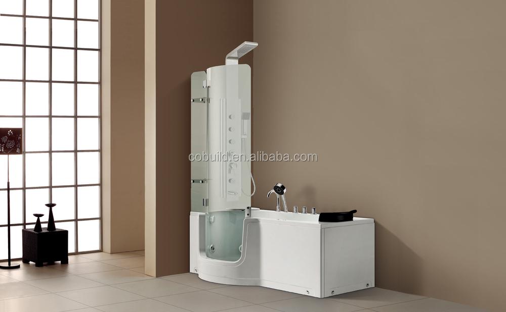 Vasca Da Bagno Con Vetro : Acrilico massaggio camminata in vasca da bagno con vetro curvo porta