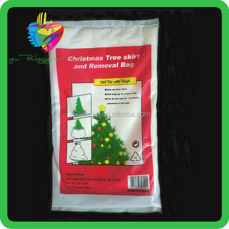 2016 newest white Disposable Christmas Tree Bas, christmas tree removal bag