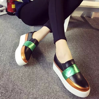 W71805G 2016 latest fashion shoes women casual leather shoes sneakers for lady wholesale china