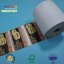 pure white evenly cutting 80*80 cash register thermal fax paper rolls