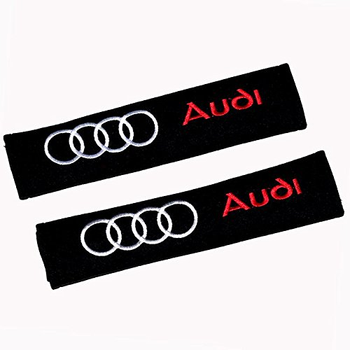 QZS Audi Car Seat Belt Shoulder Pads Strap Covers Cushion 1 Pair