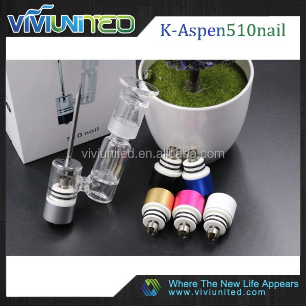 Original!! USA Hot herb extract wax vaporizer 510 nail vaporizer gass pipe with 510 thread