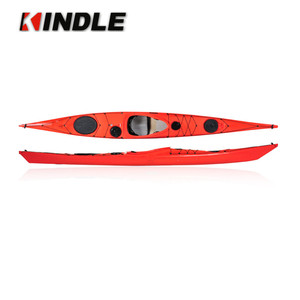 Kindleplate Roto Molded Single Sit In Side Sea Ocean Plastic Kayak Mold 2.7M Include Deluxe Seat, Paddle Kayaking Accessories