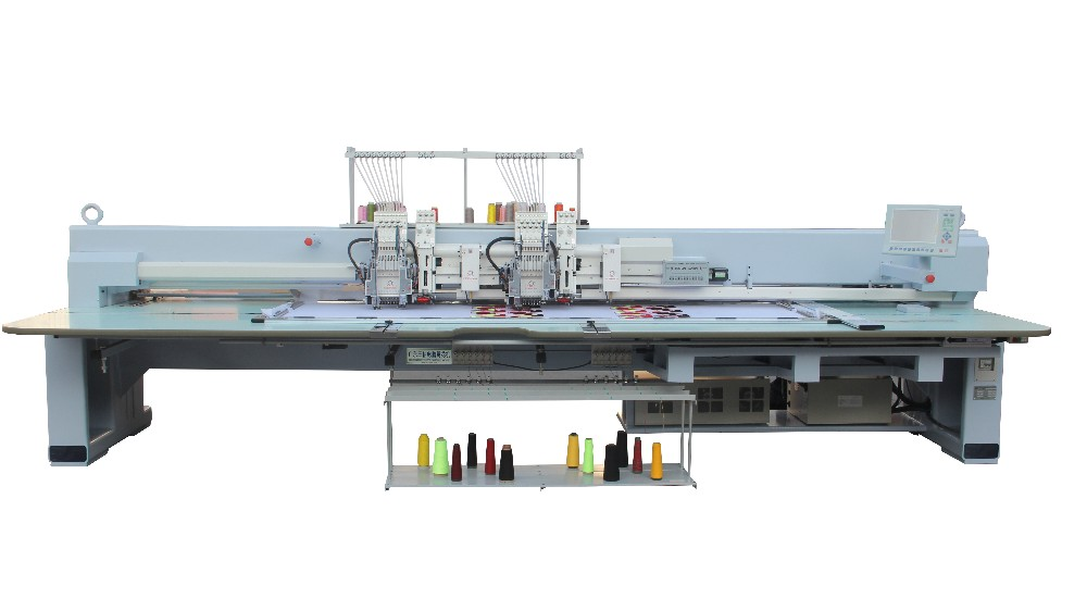 High quality good sale 2 head Chenille+Flat+Taping mixed Computerized embroidery machine in India