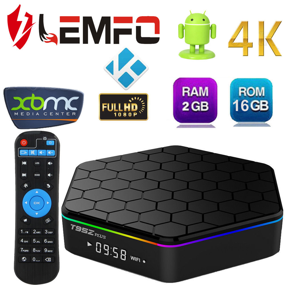 Sunvell T95Z Plus Android Smart <strong>TV</strong> <strong>Box</strong> 2G <strong>Amlogic</strong> S912 Octa Core 4K x 2K H.265 Decoding 2.4G + 5G Dual Band WiFi Media Player