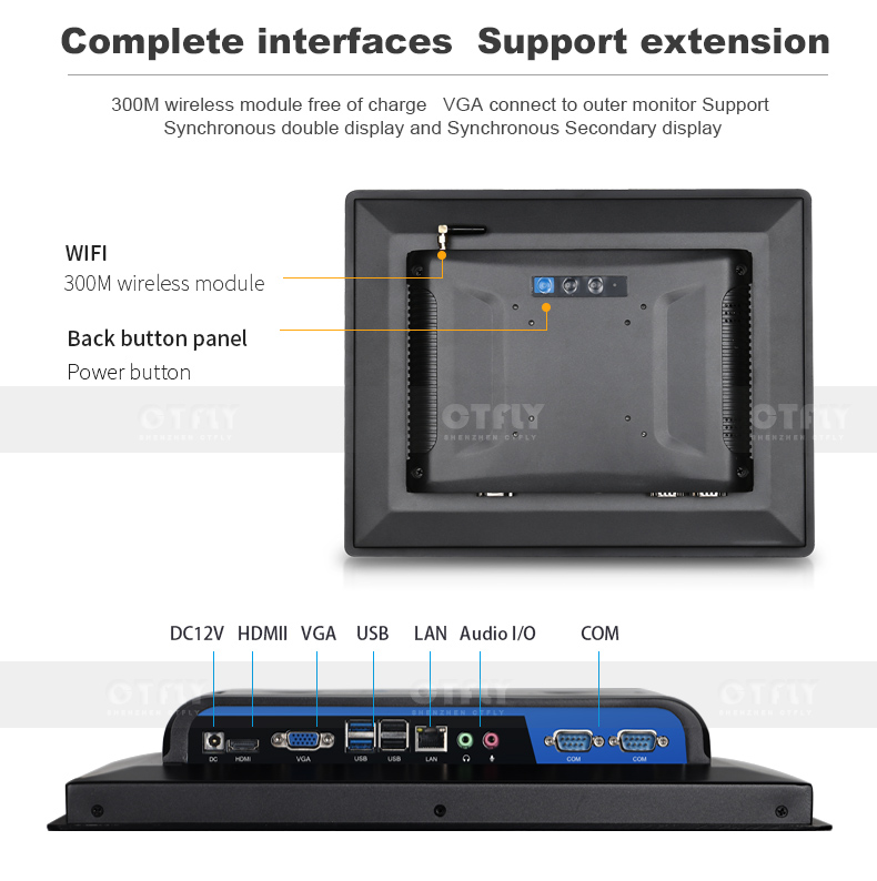 Manufacturer customized industrial IP 65 waterproof  15 inch all in one pc