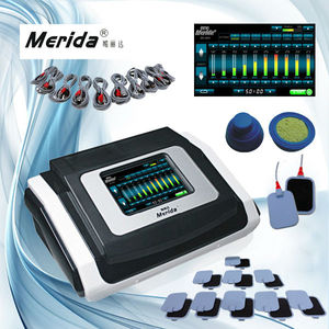 Touch screen Electrode pads Faradic slimming machine with electro stimulation