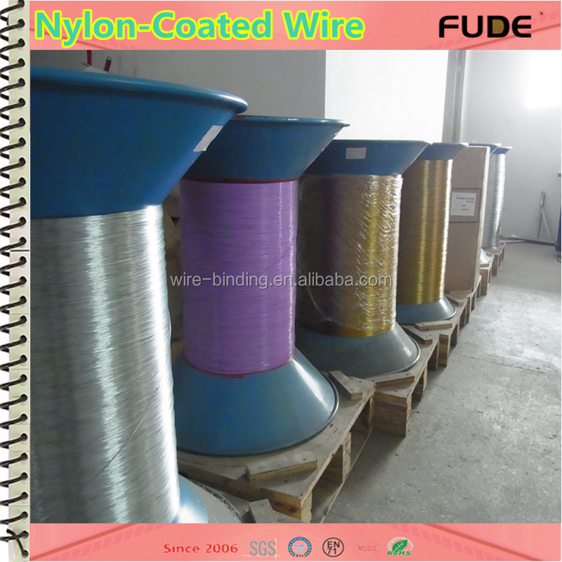 hot new products for 2016 notebook spiral single nylon coated wire