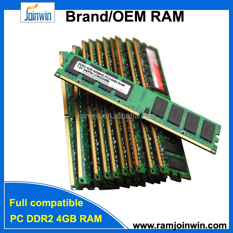 Safe package and timely delivery ddr2 4gb ram memory price