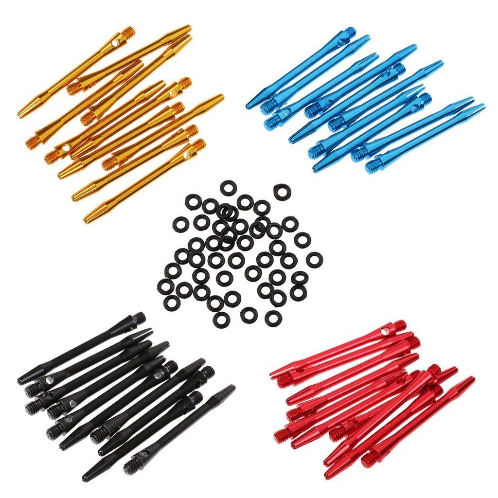 12 Pieces 52mm 2BA Aluminum Medium Darts Shafts Dart Stems Throwing 4 color