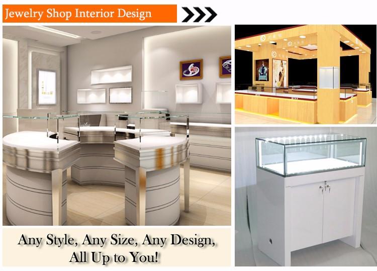 2016 Fashion Design Jewellery Showroom Display Cabinet