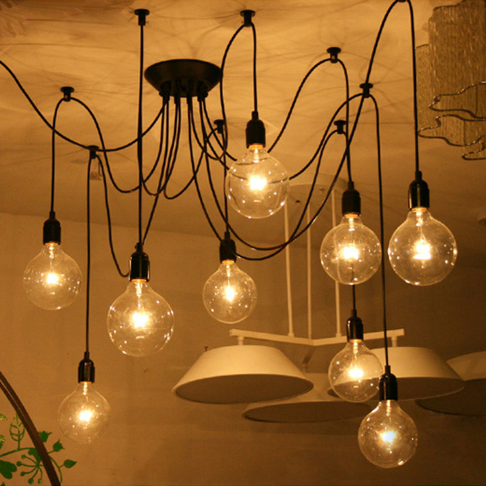 6/8 Heads Nordic Retro Edison Bulb Pendant Chandelier