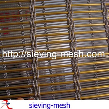 Ss Steel Woven Wire Mesh / Building Decorative Woven Mesh ...