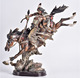 Polyresin Native Americans warrior collectible Indian decoration figurine statue