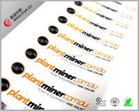 Custom logo colorful paper/PVC adhesive sticker LOW MOQ professional PVC sticker manufacture