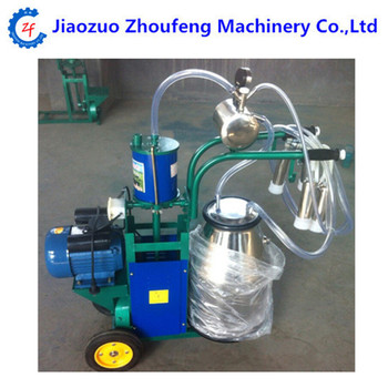 Single Bucket And Piston Pump Electric Motor Driven Mobile Cow Milking Machine Price