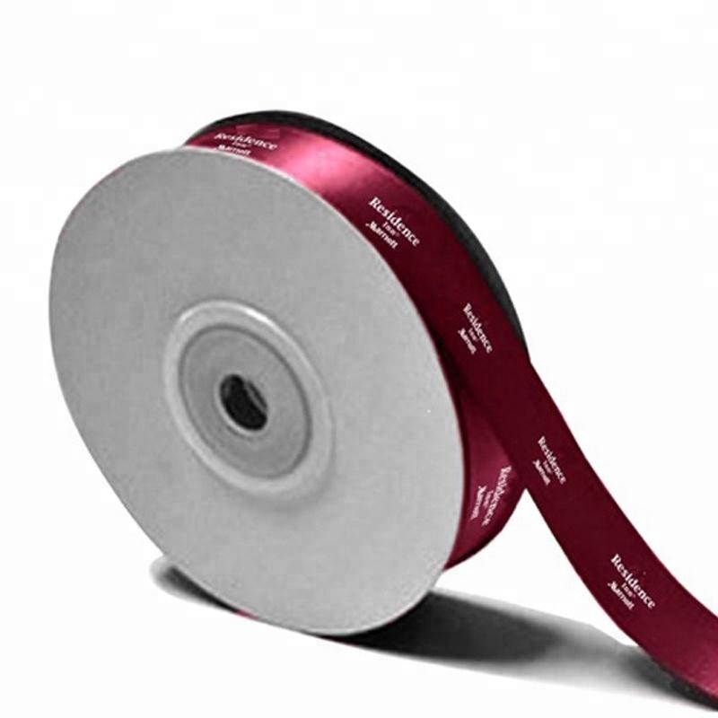 משלוח עיצוב לוגו מותאם אישית סאטן סרט עם מסך הדפסה