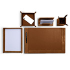 5 items combined Crocodile faux leather office desk pad organizer set
