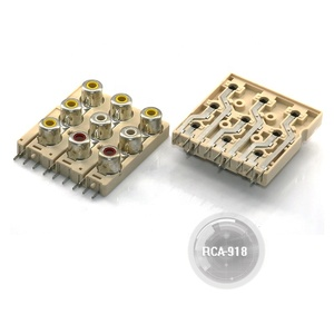 RCA-918 Square RCA Socket Board with 9 hole and short pin