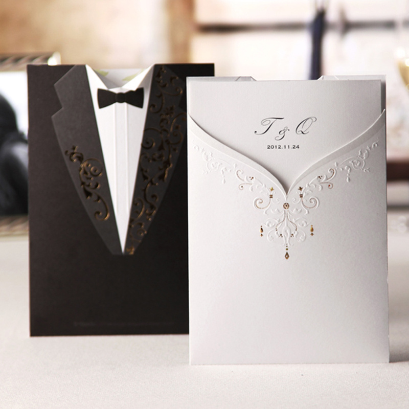 Customized Colourful Printing Weding Cards wholesale Wedding Invitations