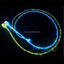 Fancy sync data charger usb cable extension 100cm LED charging micro usb cable