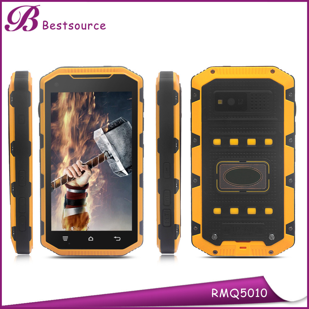 New arrival 5 inch IP68 Quad Core 1G 8G 3000mAh 2G 3G WIFI GPS BT Best Android 4 sim Card Mobile Rugged Phones