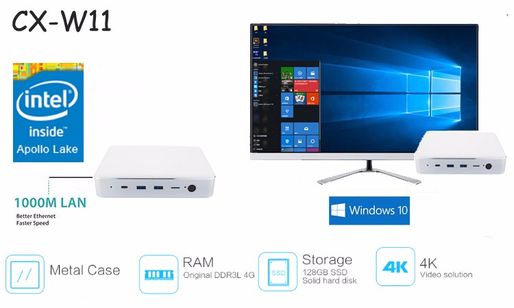 Wholesale CX-W9 Intel Atom TV Box All In One Desktop Computer