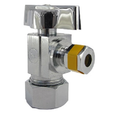 CHINA 5/8 INCH OD X 1/4 INCH C QUARTER TURN ANGLE PATTERN VALVE