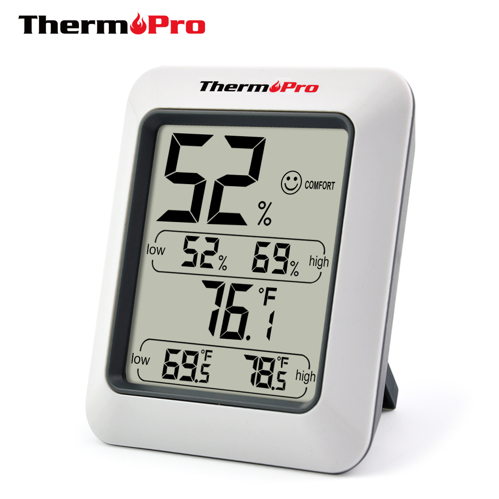 ThermoPro TP-50 Digital Thermometer Hygrometer <strong>Temperature</strong> and Humidity <strong>Temperature</strong> Sensor Indoor