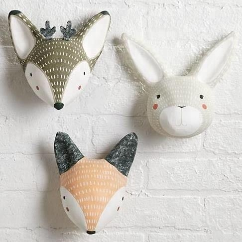 3D Resin Animal Head Sculpture Wall Mounted Hook Coat Hat Hanger Home Decor