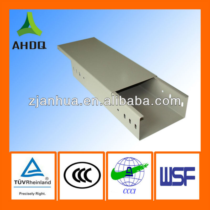 Powder coating electric cable trunking