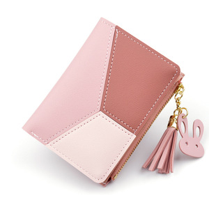 61436ee0a0dfd New Fashion Design Women Wallets Small Cute Card Holder Key Chain Money  Bags Wallet 2019