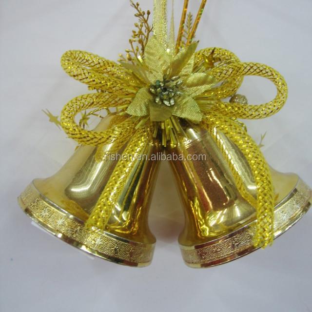 decoration large gold plastic christmas tree bells wholesale - Large Plastic Christmas Bell Decorations