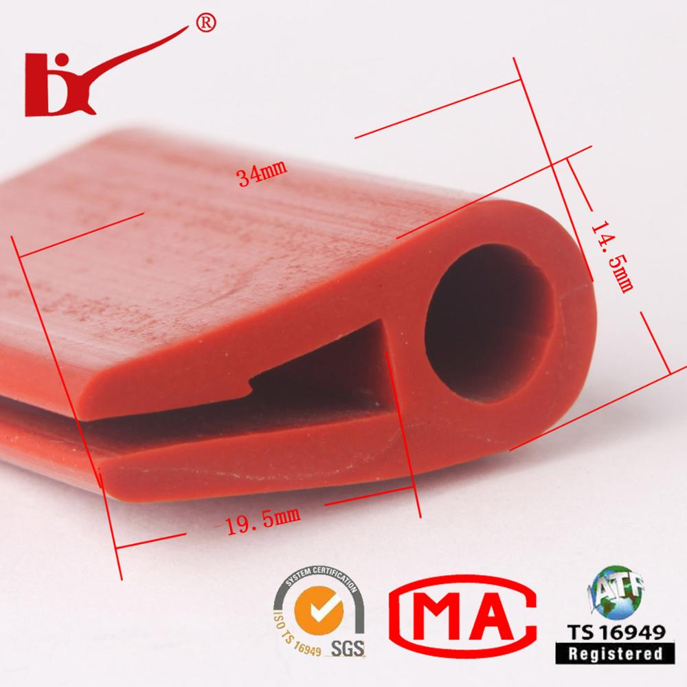 customized flexible oven door rubber silicone edge trim