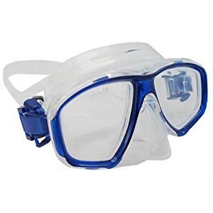 346948cd16b Get Quotations · Scuba Choice Blue Diving Dive Snorkel Mask Nearsighted  Prescription RX Optical Corrective Lenses