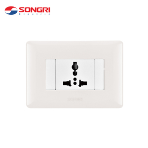 Songri brand PC 10a 250V 3 pin multi function electronic wall switch socket
