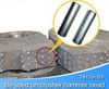 TiC cermet rods 16x80 for 18% 13% high manganese jaw plates mantle