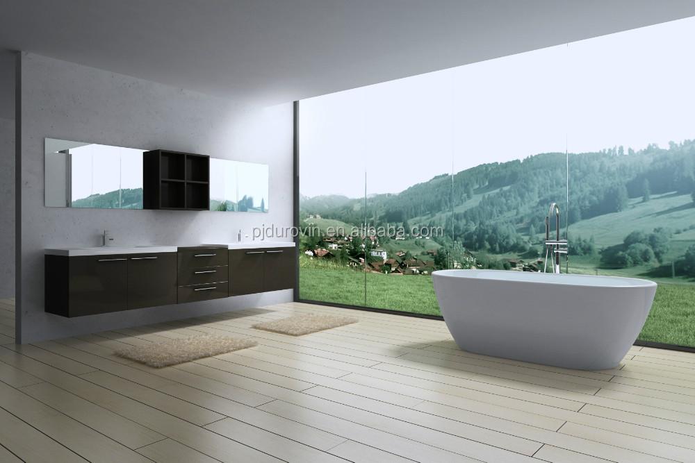 Moderno acrílico bañeras exentas 1700x800x595mm blanco oval en ...
